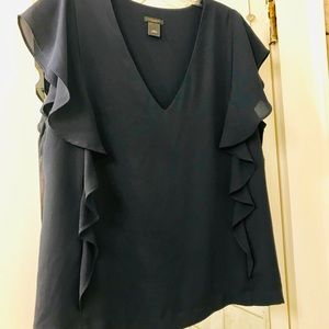 Ann Taylor navy shell size Large